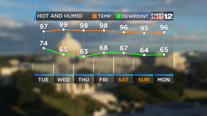 7 Day Temp and Dewpoint AC